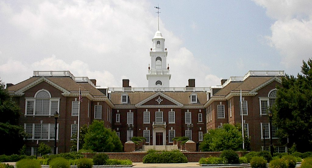 Legislative Hall in Dover, Delaware